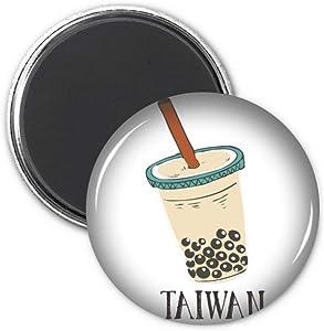 Drink Pearl milk tea Food Taiwan Refrigerator Magnet Sticker Decoration Badge Gift
