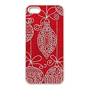 Red Christmas Ornaments iPhone 4 4s Cell Phone Case White phone component AU_494768