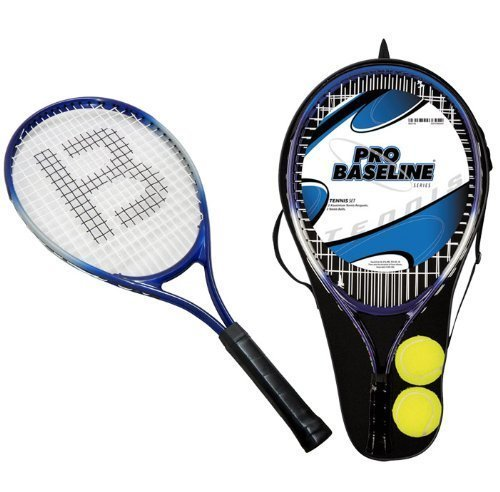 2 x JUNIOR ALUMINIUM TENNIS RACKETS WITH 2 TENNIS BALLS & CARRY CASE COVER EAN/MPN/UPC/ISBN: 5031470036454 by Pro Baseline
