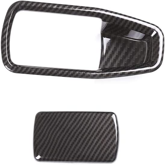 DIYUCAR Carbon Fiber Style Car ABS Co-Pilot Glove Box Handle Cover For G20 3 Series 2020 Accessories