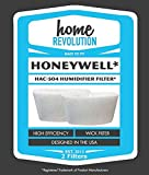 2 Honeywell HAC-504AW Humidifier Filters, Made to Fit Honeywell HCM-350, CM-600, HCM-710, HCM-300T & HCM-315T, Made to Fit Honeywell Part # HAC-504AW