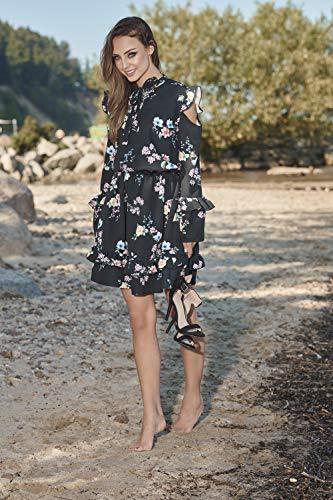 Vestito L276 Schwarz Mit Blumen Il Per Da Donna Libero Tempo Lemoniade qSx6RF5R