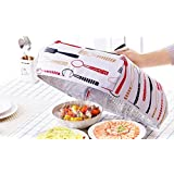 JJMG Set of 2 Foldable Insulated Food Cover with Aluminum Foil Winter Table Hot Food Insulation Cover Dish Keeping Pizza Hotdog Hot (RED Small+Large)