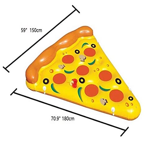 Sucastle Flotador Inflable para Piscina con Forma de Pizza, con para Adultos niños Playa Fiestas