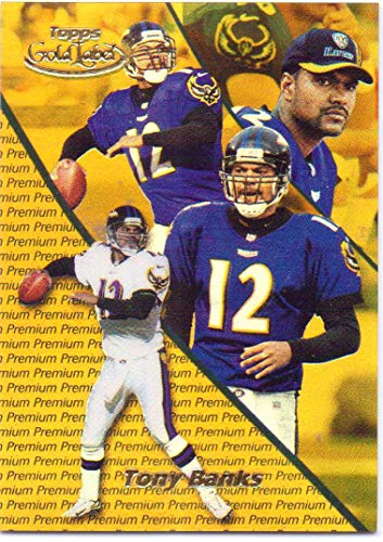 2000 Topps Gold Label - Tony Banks 2000 Topps Gold Label Premium Parallel #64-0178/1000 - Baltimore Ravens
