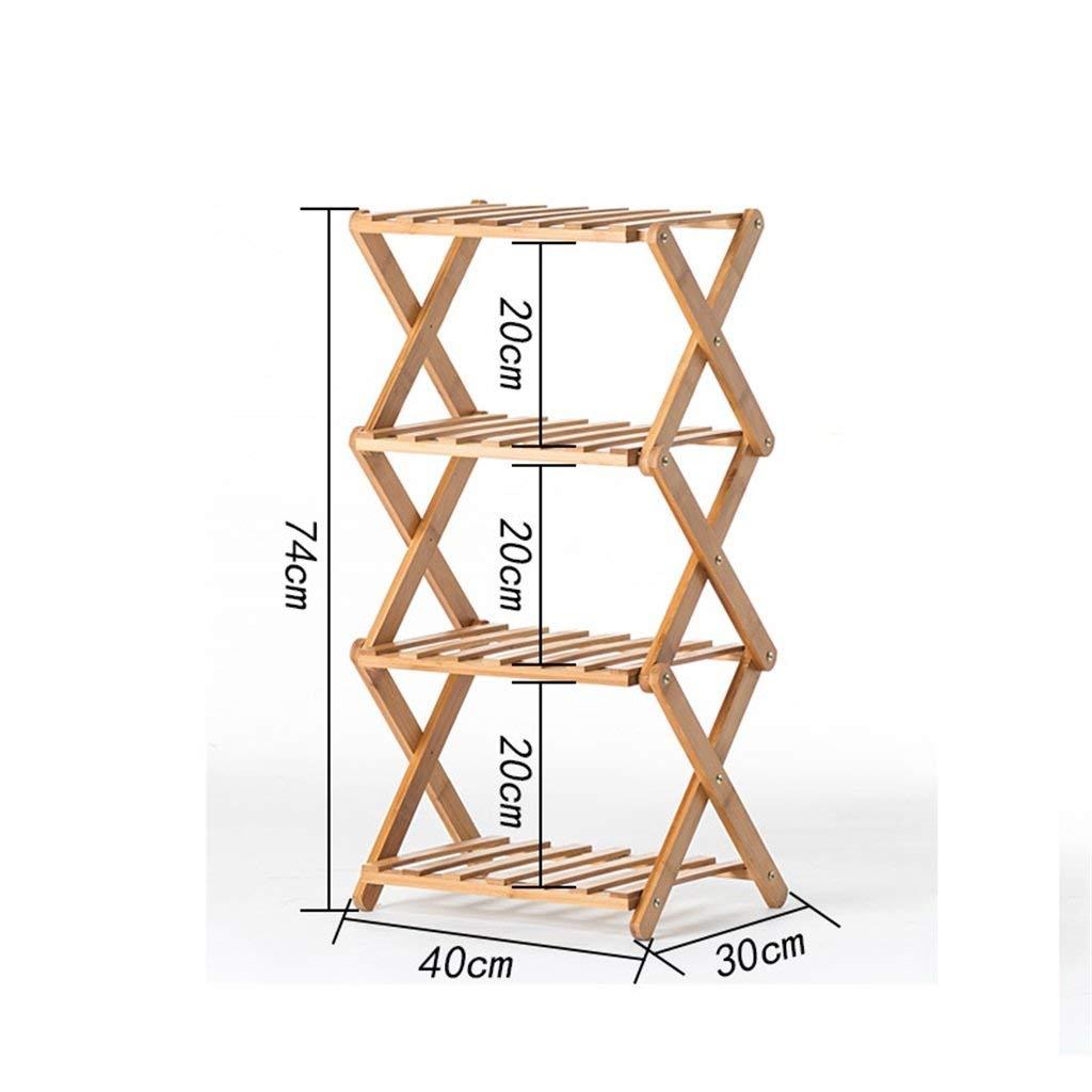 prezzi più bassi YINUO InsDimensionezione Gratuita Flower Shelf Solid Wood Wood Wood Indoor Multi-Layer Pieghevole Flower Stand Balcone Living Fleshy Flower Pot (Dimensione   D)  essere molto richiesto