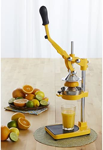 IMUSA USA J100-00110 Heavy Duty Citrus Juicer with Multi Function, Yellow