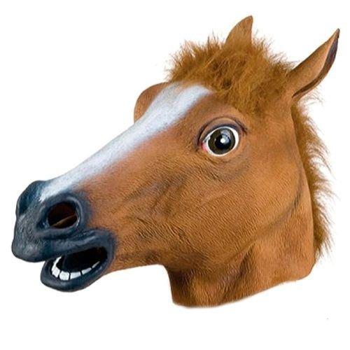 halloween mask Cosplay Halloween Horse Head Mask Latex Animal ZOO Party Costume Prop Toys Novel animal (Queens Zoo Halloween)