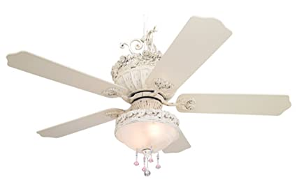 52 casa chic ceiling fan with pretty and pink light kit amazon 52quot casa chic ceiling fan with pretty and pink aloadofball Choice Image