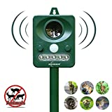 ZOVENCHI Solar Powered Ultrasonic Animal and Pests Repeller, Outdoor Weatherproof Repeller, Motion Activated