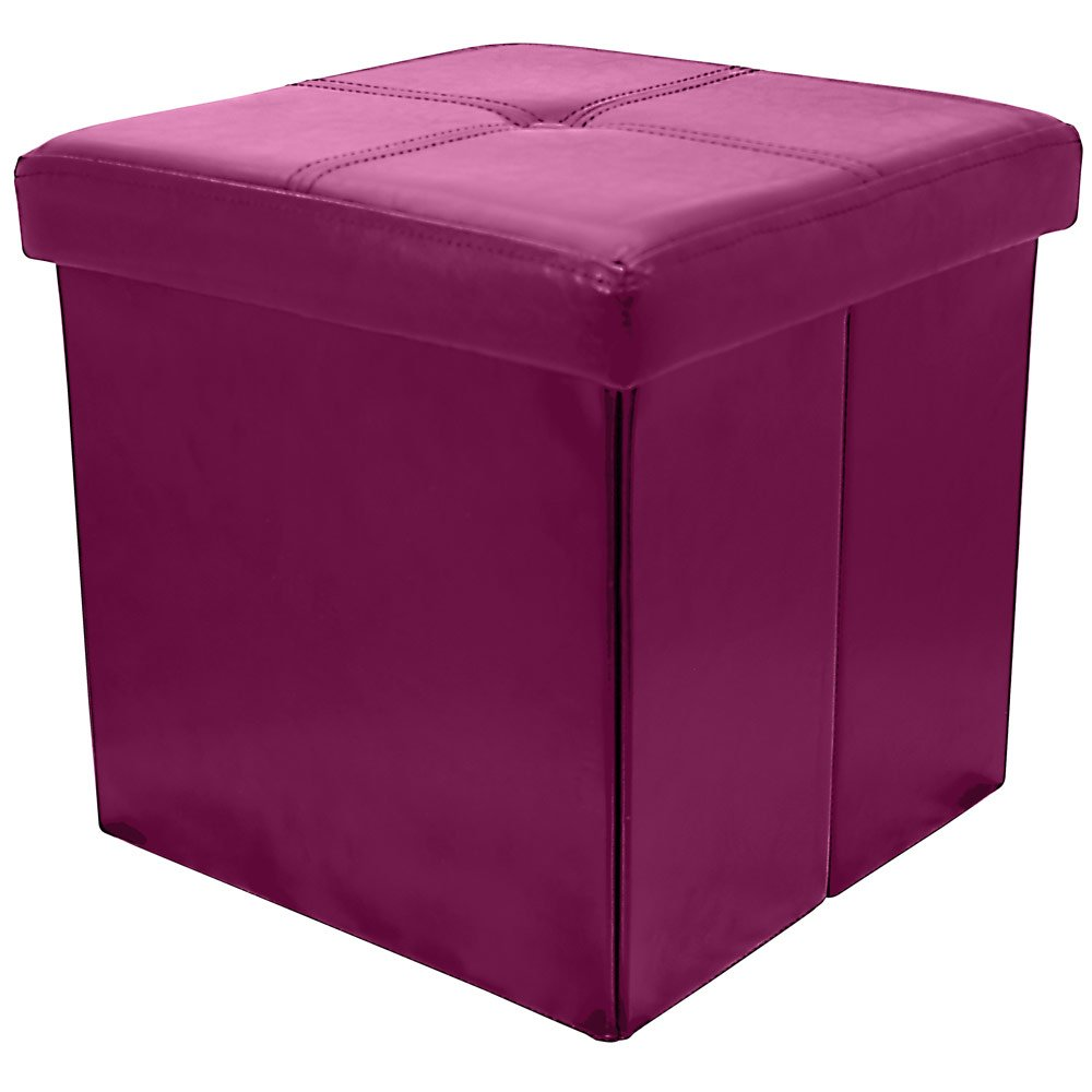 Fuchsia Pink Button Folding Storage Pouffe Seat Ottoman Toy Chest Box With Lid Amazon.co.uk Kitchen u0026 Home  sc 1 st  Amazon UK & Fuchsia Pink Button Folding Storage Pouffe Seat Ottoman Toy Chest ... islam-shia.org