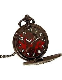 Ultimate Spider-Man Boy's SPMAQ608 Black Stainless-Steel Quartz Pocket Watch