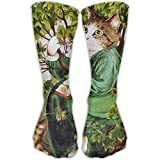 Cute Cat Man Animal Girls Dress Socks Womens Crew Socks