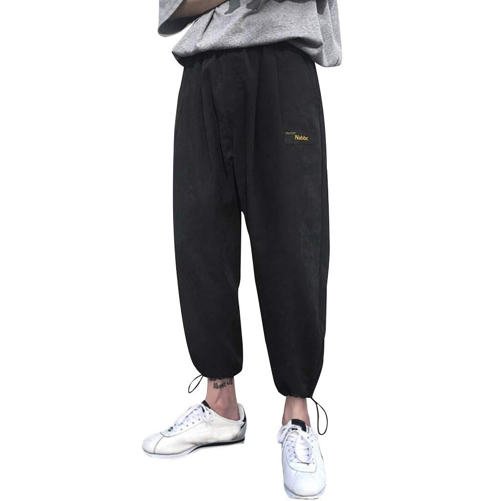 Mens Joggers Sweatpants Workout Track Pants Workout Running Trousers Gym Sports
