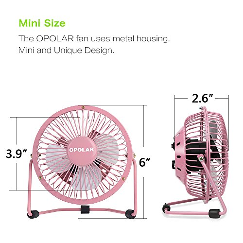 Desk Fan Dimensions : Opolar mini usb table desk personal fan powered