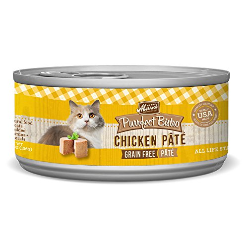 Merrick Purrfect Bistro Grain Free, 5.5 oz, Chicken Pate - Pack of 24