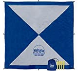 Kahuna Parachute Beach Blanket - Picnic Blanket - Outdoor Blanket - Beach Accessories - No Sand Beach Sheet (Extra Large XL 8x8 Feet) - Blue/Gray