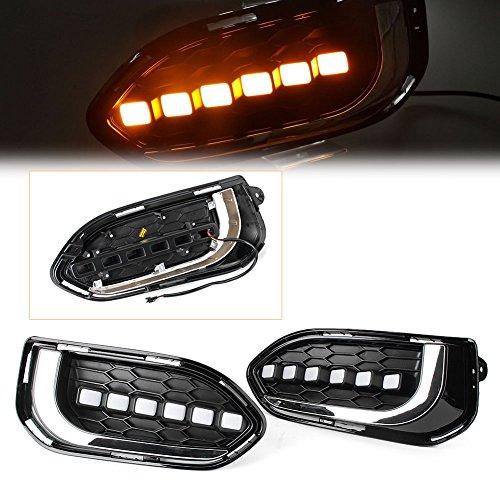 [해외]GZYF 주도 주간 실행 빛 DRL 안개 램프 혼다 맞는재즈 2018 2Pcs / GZYF LED Daytime Running Light DRL Fog Lamp for Honda FitJazz 2018 2Pcs