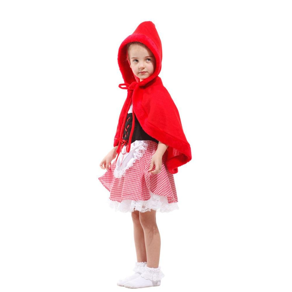 Tongchou Disfraz de Caperucita Roja para Ninas Carnaval Fiesta Halloween M: Amazon.es: Bebé