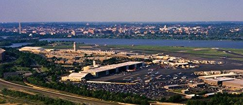 Posterazzi Poster Print Collection Ronald Reagan National Airport Washington DC USA Panoramic Images, (30 x 13), -