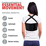 ORTONYX Rib and Chest Support Brace with Front Stay - S Black