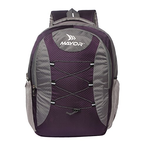 Mayor 8904185949838, 25 Ltrs Purple and Grey School Backpack  MBP3000
