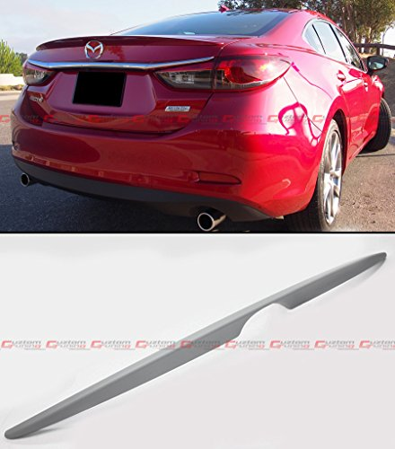 Cuztom Tuning FOR 2013-2016 MAZDA 6 SEDAN SPORT PRIMERED ABS FLUSH MOUNT TRUNK LID SPOILER (Mazda 6 Sports Sedan)