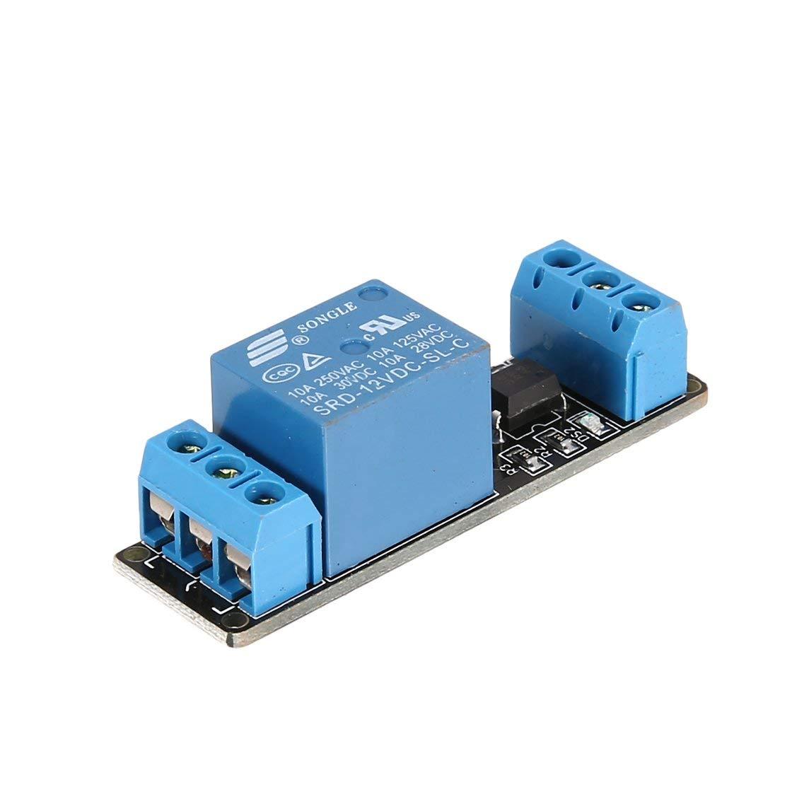 12 V 1 canal módulo de relé de la placa de interfaz optoacoplador de disparo de bajo nivel para Arduino SCM PLC Smart Home interruptor de control remoto Laurelmartina