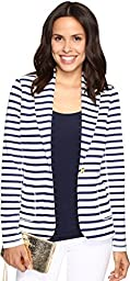 Lilly Pulitzer Women\'s Mindy Shawl Collar Cardigan Bright Navy Serene Stripe Jacket