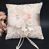 Yunhany Direct Floral Lace Ring Cushion Bridal