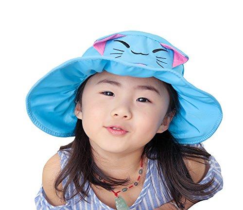Cappello pescatore Cappello azzurro vuoto Carino in da sole Gatto Modello Cappello Viaggio anti Spiaggia uv Bambino cotone spiaggia Cielo Acvip Cappello da da w0pSBEnq
