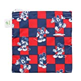Bumkins Disney Baby Reusable Snack Bag Large, Mickey Mouse Checkered