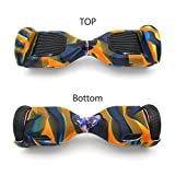 Shinymod 6.5 inch Balanced Scooter Case, Rubber Guard Protection 100% Silicone Self Balancing Scooter Board Cover, Case Only (Yellow Camo)