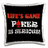 onepicebest Playing Cards - Lifes game playing Poker is serious- Funny quotes- Best seller- - 18x18 inch Pillow Case