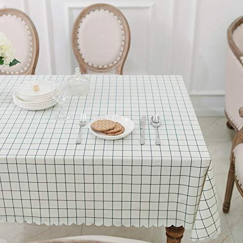 Zller2587 PVC Impermeable, Anti-Aceite y Anti-escaldado, celosía Simple, Mantel doméstico Rectangular, Mantel de plástico, paño de Cubierta 65x65cm Rejilla Blanca: Amazon.es: Jardín