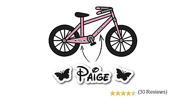 2 x marcos de vinilo para bicicleta, personalizados para niñas con ...