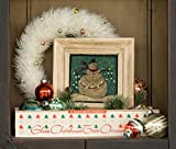 Frosty Flakes 641 Punch Needle Pattern Threads That Bind Snowman Christmas Punchneedle