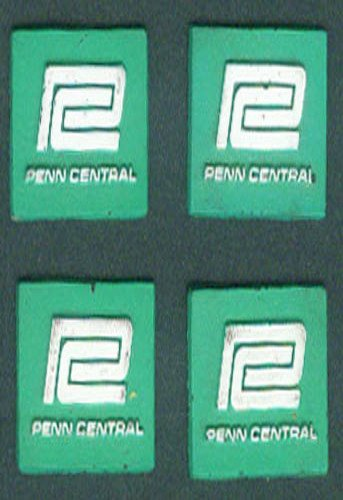Set of FOUR Penn Central Railroad advertising magnets