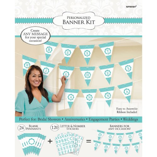 Green Personalised Party Banner (Blue Personalized Banner)