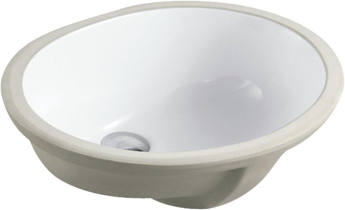 Ariel Uv1916ppcmb 19 1 2 Inch White Porcelain Ceramic Round Shape Bathroom Vanity Undermount Sink Faucet Pop Up Flow Drain In Chrome Finish Combo Amazon Com