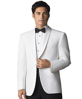 Men s Elegant White Dinner Jacket at Amazon Men s Clothing store  91c78c942c7f