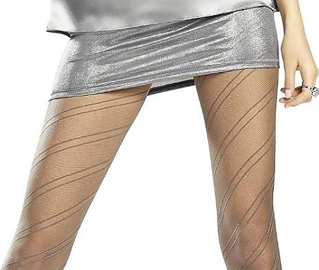 20/denari semitrasparenti collant con Comfort della fascia in vita e cotone gherone Marilyn strisce di gemusterte