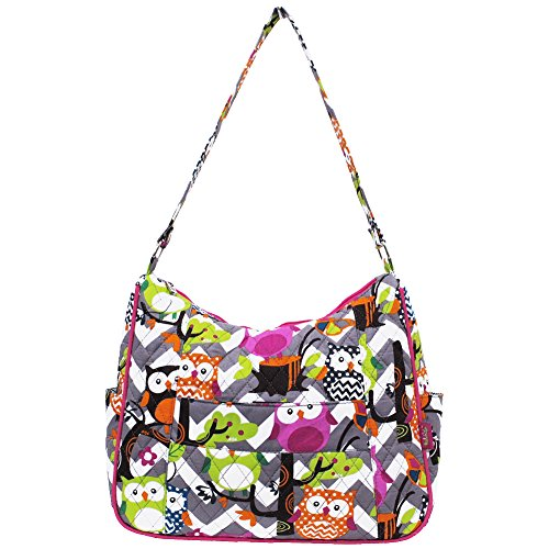 Fashion NGIL Pink Gray Hobo Owl Bag Town hot Themed Quilted AHfHxqFa