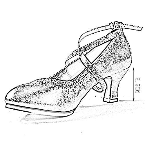 Zapatos Las con Latino Colores Talón Formales Negro Poco UK4 Cordones Profunda De Negro EU35 225mm Otoño 3 Baile Mujeres Y Ocasiones Botines PENGFEI Color L De Tamaño Primavera Boca Medio dtxUvqdw