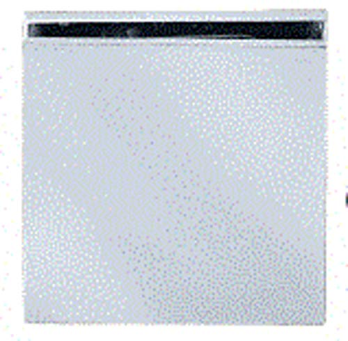C.R. LAURENCE SCU4SC CRL Satin Chrome Square Style Hole-in-Glass Fixed Panel U-Clamp