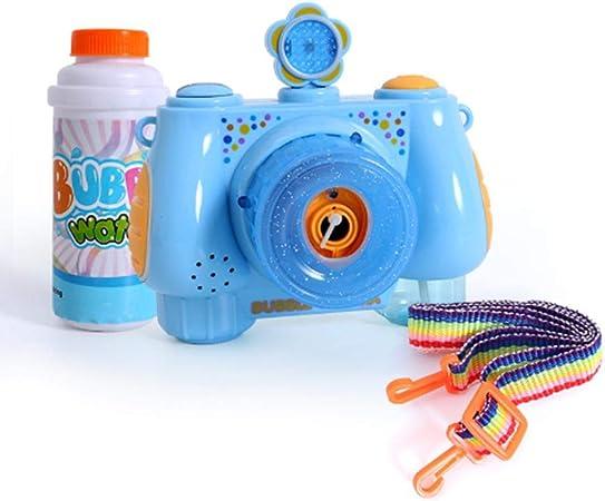 Sanmubo Trading Cámara automática de Burbujas para niños Juguete de Burbujas Soplador de Burbujas para niños Niñas - Funcionamiento con batería (Batería no incluida): Amazon.es: Hogar
