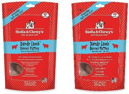 Stella Chewy s Dandy Lamb Dinner Patties Dog Food, 15 Ounce Bag 2 pack