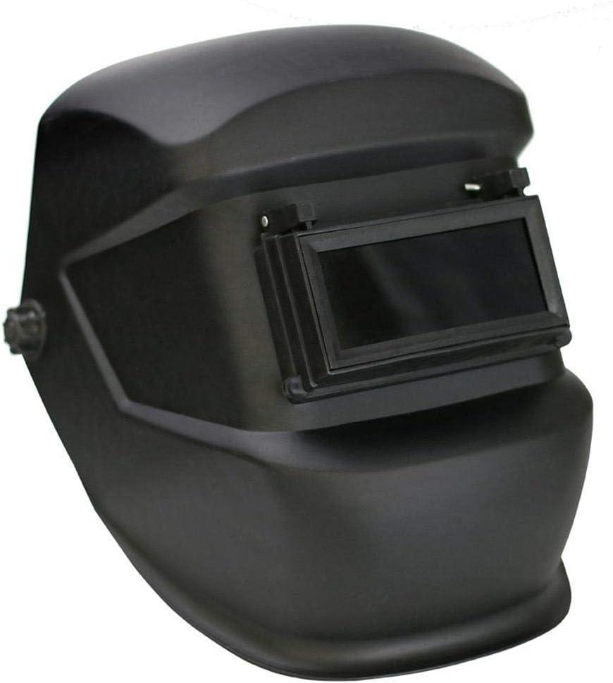 Steel Welded and Shipyard Use Flip-over Double Anti-lens Welding Hood Welders Mask Pull-button Adjustable Headgear for Pipeline Welding Construction Site UMIWE Welding Helmet Mask