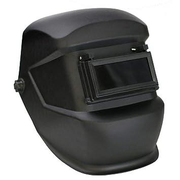 UMIWE Welding Helmet Mask Construction Site Flip-over Double Anti-lens Welding Hood Welders Mask Pull-button Adjustable Headgear for Pipeline Welding Steel Welded and Shipyard Use