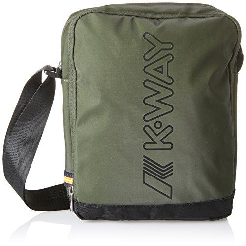 K-Way 7akk8127a9501, Borsa Messenger Uomo, Verde (A95 Green Wood), 6x27x21 cm (W x H x L)